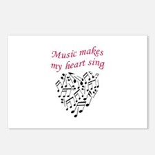 MUSIC MAKES HEART SING Postcards (Package of 8)