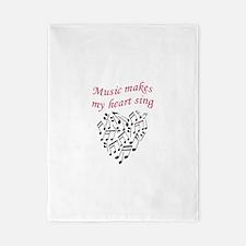 MUSIC MAKES HEART SING Twin Duvet