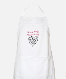MUSIC MAKES HEART SING Apron
