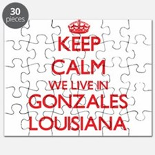 Keep calm we live in Gonzales Louisiana Puzzle