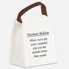 Cute Vet student Canvas Lunch Bag
