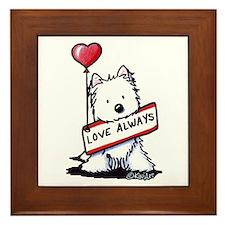Love Always Westie Framed Tile