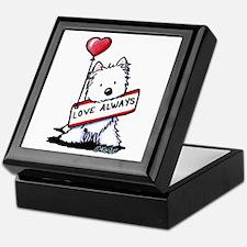 Love Always Westie Keepsake Box