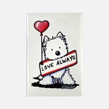 Love Always Westie Rectangle Magnet
