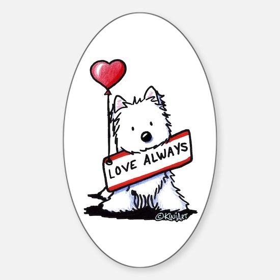 Love Always Westie Sticker (Oval)