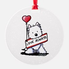 Love Always Westie Ornament