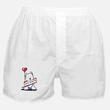 Love Always Westie Boxer Shorts