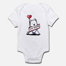 Love Always Westie Infant Bodysuit