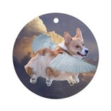 Corgi angel Round Ornaments