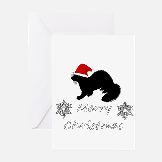Christmas Ferret Greeting Cards