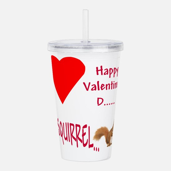 Valentine Squirrel Acrylic Double-wall Tumbler