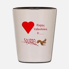 Valentine Squirrel Shot Glass