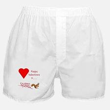 Valentine Squirrel Boxer Shorts