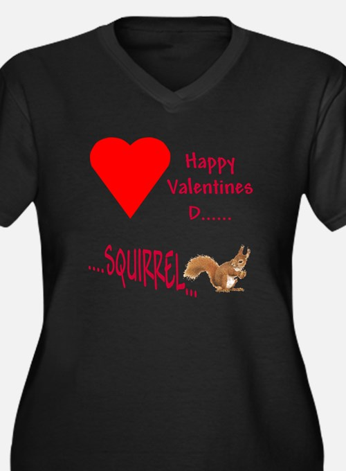 Valentine Squirrel Plus Size T-Shirt