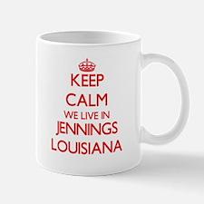 Keep calm we live in Jennings Louisiana Mugs