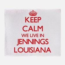Keep calm we live in Jennings Louisi Throw Blanket