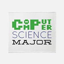 Computer Science Major Throw Blanket