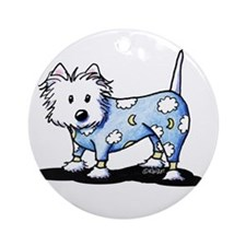 KiniArt PJs Westie Ornament (Round)