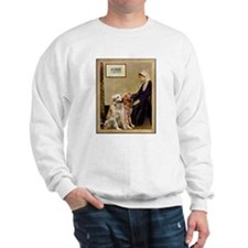 Whistlers Mother & 2 Golden Retrievers Sweatshirt