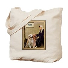 Whistlers Mother & 2 Golden Retrievers Tote Bag