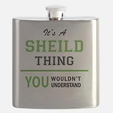 Funny Sheild Flask