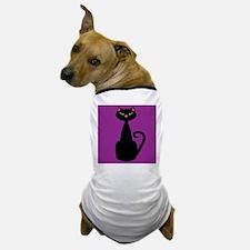 Black Cat on Purple Dog T-Shirt
