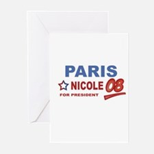 Paris and Nicole for presiden Greeting Cards (Pack