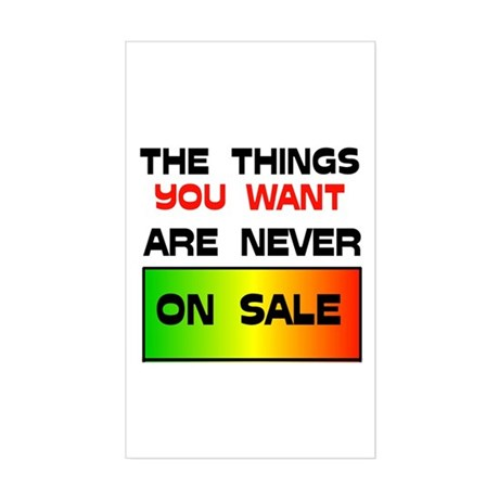 NEVER ON SALE Rectangle Sticker