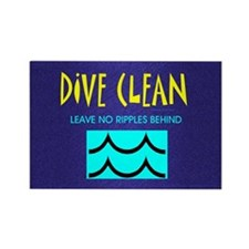 Dive Clean Rectangle Magnet