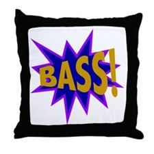 Bass Blast Throw Pillow