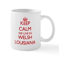Keep calm we live in Welsh Louisiana Mugs