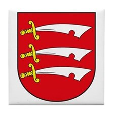 Essex County Coat of Arms Tile Coaster