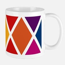 Colorful Harlequin Pattern Mug