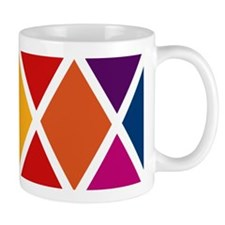 Colorful Harlequin Pattern Mug