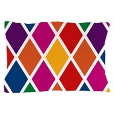 Colorful Harlequin Pattern Pillow Case