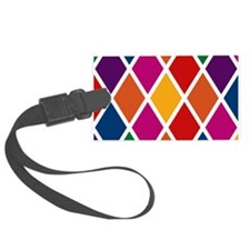 Colorful Harlequin Pattern Luggage Tag