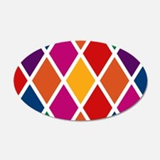 Colorful Harlequin Pattern Wall Decal