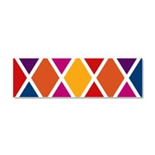 Colorful Harlequin Pattern Car Magnet 10 x 3