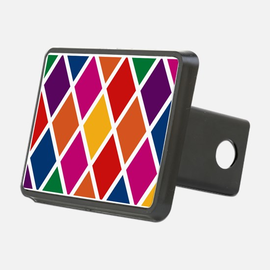 Colorful Harlequin Pattern Hitch Cover