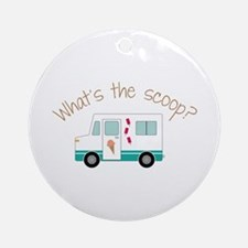 What's The Scoope? Ornament (Round)