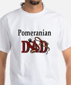 Pomeranian Dad White T-shirt