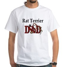 Rat Terrier Dad White T-shirt