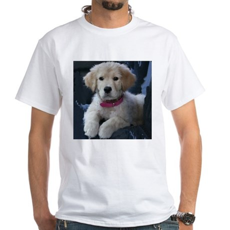 Golden Retriever Puppy White T-shirt
