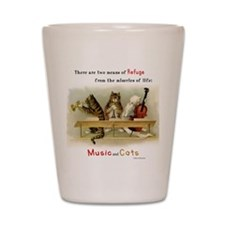 Music and Cats Shot Glass