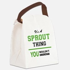 Unique Sprout Canvas Lunch Bag