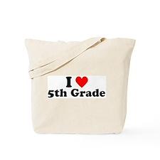 I Heart 5th Grade Tote Bag