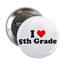 I Heart 5th Grade Button