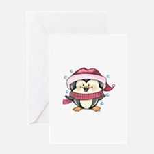 WINTER PENGUIN Greeting Cards