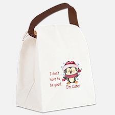 IM CUTE! Canvas Lunch Bag