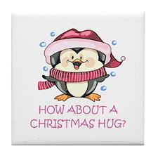 CHRISTMAS HUG? Tile Coaster